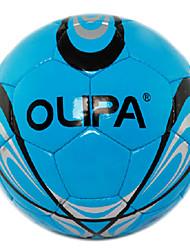 Olipa 5 # blue juego pu y el entrenamiento de fútbol estándar