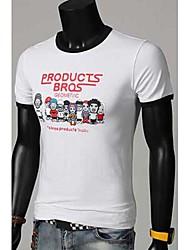 mencool t-shirt d'impression de dessin animé décontractés pour hommes
