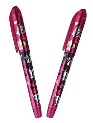 Cute Blue lnk Cartridge Pen (Pink ,2-Pack)