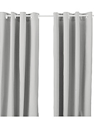 One Panel Grommet Top  Modern Classic Solid Energy Saving Curtain
