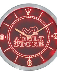 negozio adulto negozio di giocattoli al neon orologio da parete led