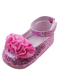 Semelle en caoutchouc Appartements Féminin Mary Janes chaussures de fille PU Infant Toddler Prewalker premier marcheur de bébé Sapatos