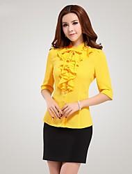 Women's Tops & Blouses , Cotton/Polyester Casual Qiaojiaren