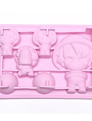 "Cartoon Ice Mould Silicone Ice Cubes (Random Color) , Silicone  6.2""x4.4x1.6"""