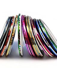 Foglio 10pcs mixs colore nudo linea nastro striscia chiodo nastro chiodo decorazione di arte sticker (colore casuale)