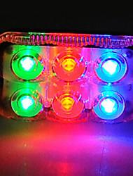 Acacia 65 * 35 * 25 mm Mluti-color del LED Luces traseras para bicicletas