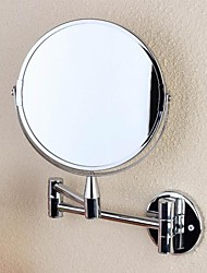 "Bath Accessory Set Two-sided Telescopic  Wall Mounted Mirror 1Set D6.7""*H10.8"""