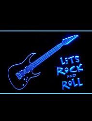 Gitarren-Rock Roll Studio Werbung LED-Licht Anmelden