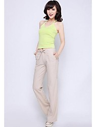 Women's Fashion Casual Linen Wide Leg Pants Trousers