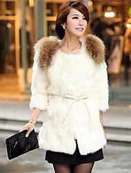De Mujeres de Nueva Moda Solid Casual Abrigo de piel delgada