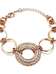 Fanccy Diamante Circle BraceletTH18KRGPB002 Screen Color(17cm)