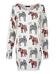 Women's Fashion Pony Pattern Slim Knit Sweater