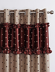 Two Panels Curtain Modern , Novelty Bedroom Polyester Material Blackout Curtains Drapes Home Decoration For Window