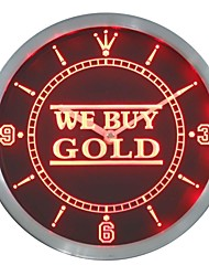 We Buy Gold Shop Neon Sign LED Wall Clock
