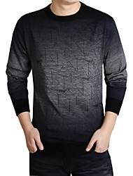Skymoto®Men's Thin Casual Multicolor Long Sleeve Woollen Sweater