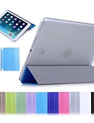 couleur unie cas d'impression de la soie avec support pour iPad air (couleurs assorties)