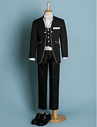Polyester Ring Bearer Suit - 6 Pieces Includes  Jacket / Shirt / Vest / Pants / Waist cummerbund / Bow Tie