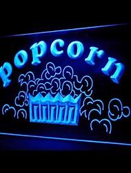 Popcorn alimentaire Promotion Vert Bleu Rouge Blanc Orange Violet Jaune Publicité LED Connexion