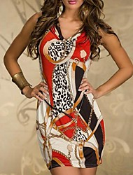 XiXiangYi® Women's Ethnic Cotton and Spandex Mini Dress