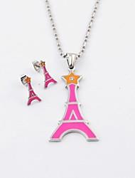 Mode de titane acier Star et Tour Eiffel Colliers et boucles d'oreilles Parures