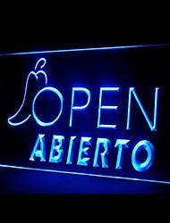 Abierto Aberto Mestre Publicidade LED Sign