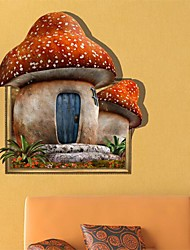 3D The Mushroom House Wall Stickers Wall Decals