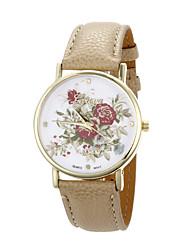 mulan PU cuir femmes habillent la montre-25 (beige)