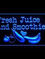 Fresh Juice Smoothies Publicité LED Connexion