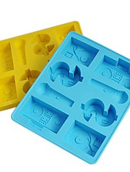 Hip-Hop Ice Mould Silicone Ice Cubes  Random color (6.2x5.2x0.8 inch)