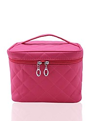 Portable Nylon Checkered Makeup  Bag Cosmetics Bag / Tote
