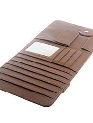 Auto-interieur zonneklep Multifunctionele PU Leather DVD Case CD map Pocket - Bruin