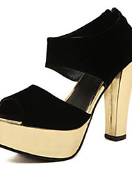 IPIEN Summer Thick Heel Waterproof Sandal (Gold)