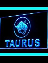 publicité zodiaque taureau conduit de lumière de signe