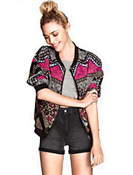 Expect Half Length Sleeve Floral Print Jacket
