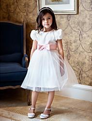 Flower Girl Dress - Mode de bal Longueur genou Tulle/Dentelle/Organza