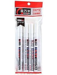 schwarzem Papier mit weißer Tinte Marker Textmarker Lackstift (weiß ,4-Pack)