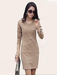Women's Dresses , Cotton Mengqi