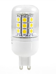 JUXIANG G9 5 W 30 SMD 5050 300 LM Warm White Recessed Retrofit Decorative Corn Bulbs AC 220-240 V
