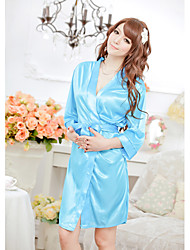SexyMore Sexy Blue Loose Fit Bathrobe With T-Back