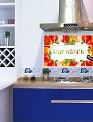 Doudouwo® Botanical Green Vegetables Anti-Oil Wall Stickers