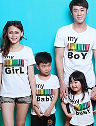 Short Sleeve Cotton Family Clothing Sets , Summer Tee