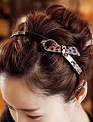 1 Pcs Imported Leopard Print Bowknot And With Tooth Hair Band