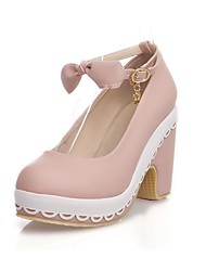 Women's Chunky Heel Platform Pumps/Heels Shoes (More Colors)