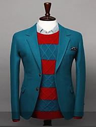 mens due pulsante di lana autunno ed inverno vestito colore puro