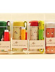 caixa de costura flores sintonia cor aleatória