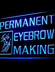 Permanent Eyebrow Making Advertising LED Light Sign