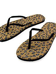 Quiksilver Women's Outdoor Sports Leopard Print Beach Flip Flops