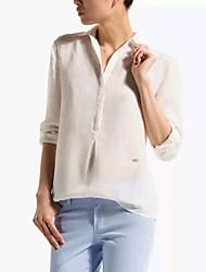Dizzle Women's Cotton Linen Long Sleeve Blouse