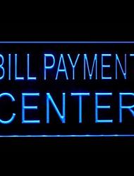 publicité dans les centres de paiement de factures conduit de lumière de signe