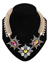 mode punk de collier de diamants de dossard des femmes